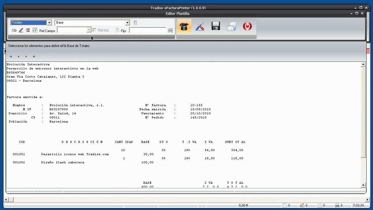 ep 3 1 diseño plantilla facturae XML - YouTube