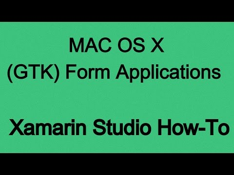How To Create Mac OS X Form Applications (GTK) With C# (.NET)