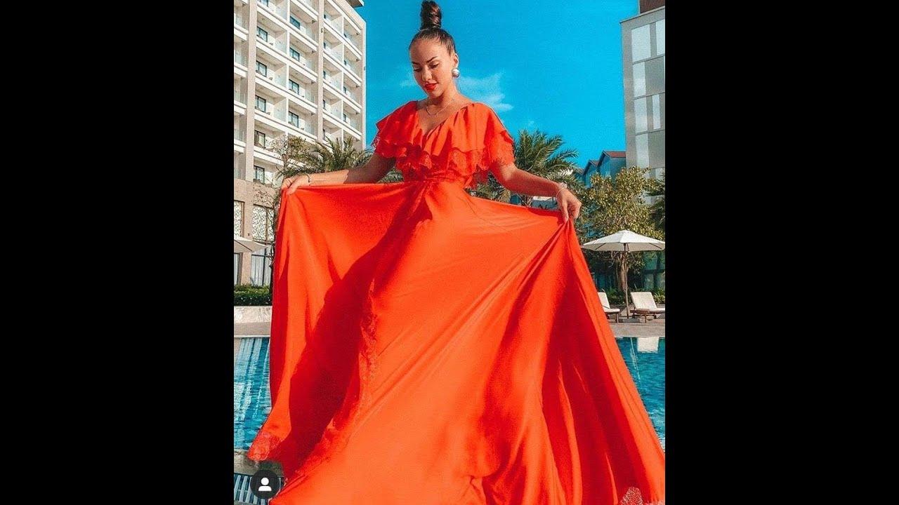 بترونات فساتين جميلة للمناسبات 2020 فستان الفرافير الاورنج Youtube Fashion Sari Saree