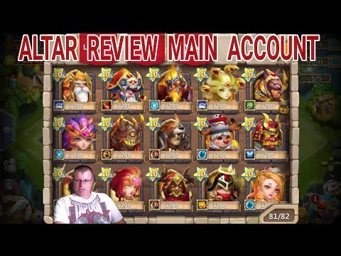 Castle Clash Main Account Hero Altar Review And Evolving Rockno