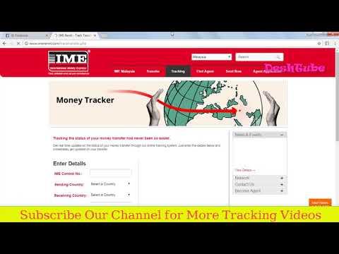 International Money transfer tracking | IME Money Tracking
