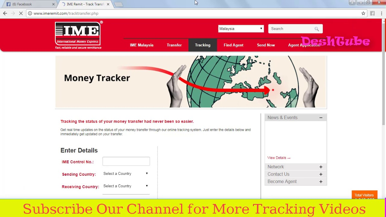 International Money Transfer Tracking Ime