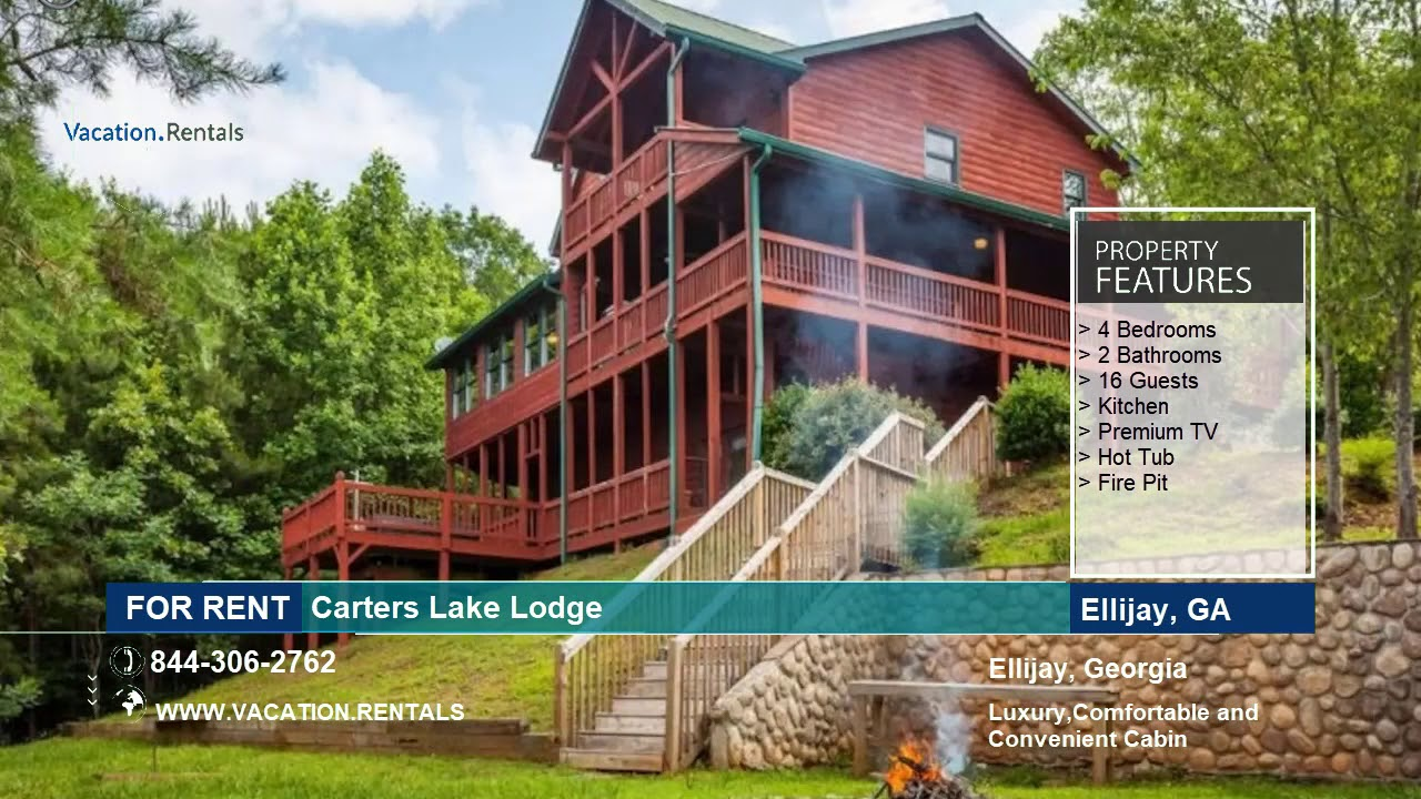 Georgia Vacation Rentals Carters Lake Lodge 16 Guests