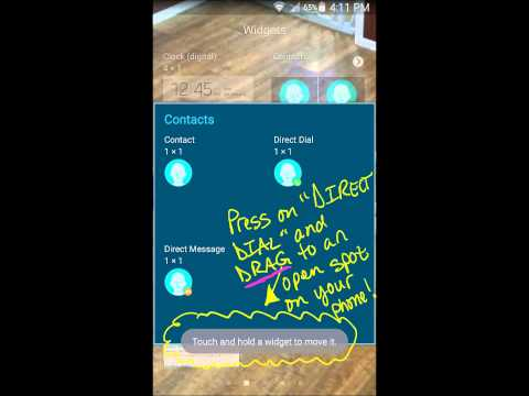 Create Speed Dial Direct Dial Icon Samsung Galaxy Note 4 3 2 1