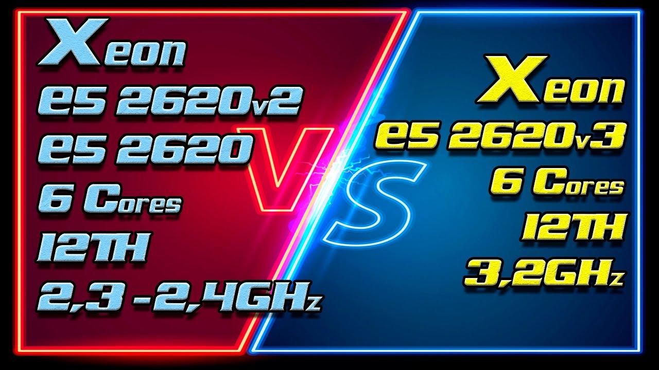 Xeon E5 2620 (2300MHz) vs Xeon E5 2620v2 (2400MHz) vs Xeon E5 2620v3 (3200MHz). Unlock Turbo Boost