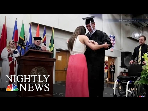 Paralyzed Student Walks Across Stage At Graduation | NBC Nightly News