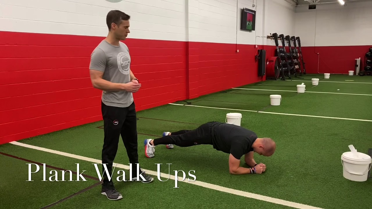 Plank Walks-Ups