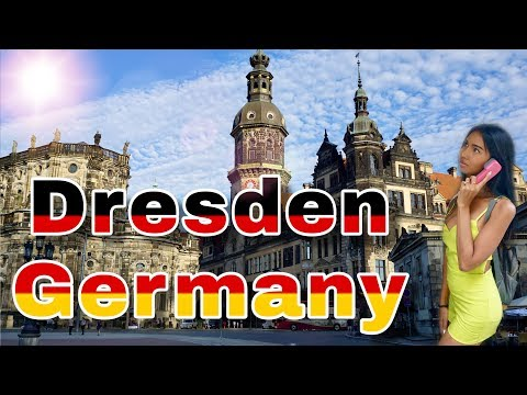 Dresden Germany.  Walking with Ladyboy in summer