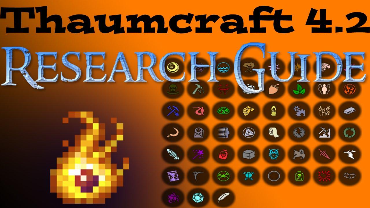 Research guide thaumcraft 4