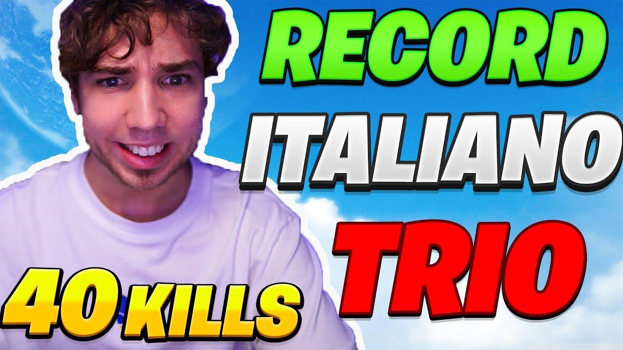40 KILLS! Nuovo *RECORD* ITALIANO in TRIO ARENA lega CAMPIONI! - FORTNITE ITA