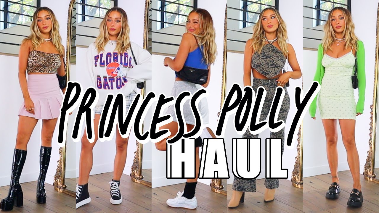 HUGE Spring Princess Polly Try On Haul | Skirts, Crop Tops, Dresses, more!