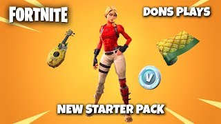 🔴 FORTNITE NEW STARTER PACK SKIN *UPDATE 8.10* || 500 LIKE GOAL || GIVEAWAY 🔴