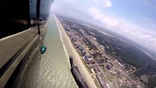 Cruise the Myrtle Beach SC oceanfront in a helicopter (GoPro and video)