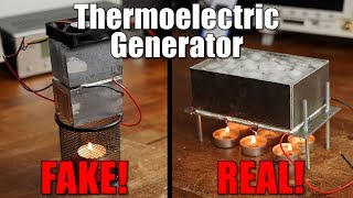 Exposing a FAKE Thermoelectric Generator and building a REAL one!