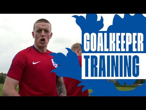 Football Tennis with England's U21 Goalkeepers   Inside Training