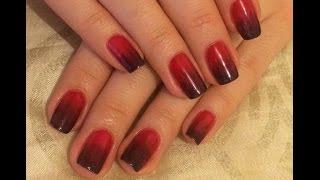 Градиентный маникюр гель-лаком / Gradient manicure