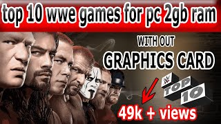 top 10 wwe games 2018 || best wwe games for pc 2gb ram