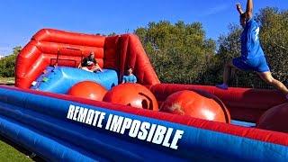 REMATE IMPOSIBLE EN CASTILLO HINCHABLE!!! ¡RETO FÚTBOL!