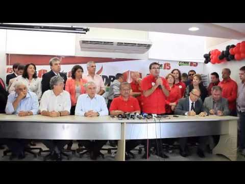PMDB rachado anuncia apoio à candidatura de Ricardo Coutinho no segundo turno