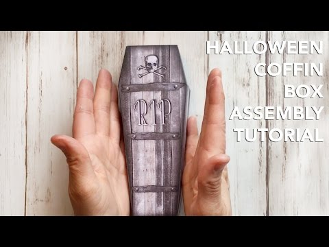 Halloween Coffin Treat Box Assembly | ASSEMBLY TUTORIAL