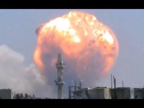 مشهد لاقوى انفجار يهز مدينة حمص