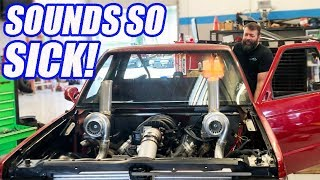FIRST START UP!!  Twin Turbo AWD V8 S-10 And It Sounds INSANE! Ep.11