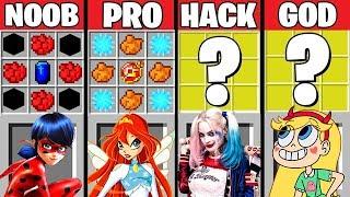 Minecraft Battle: GIRL SUPERHERO CRAFTING CHALLENGE ~ NOOB vs PRO vs HACKER vs GOD – Animation