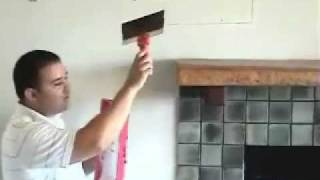 Install Tv Above Fireplace Pt 9- Drywall Repair