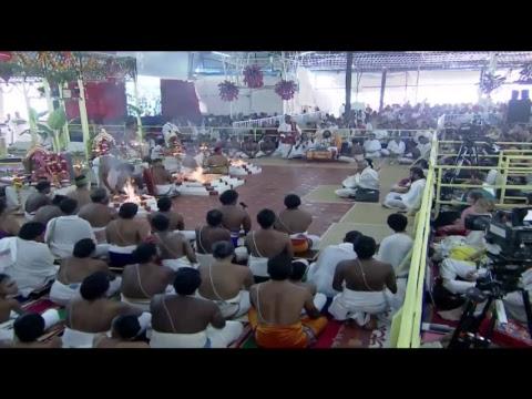 Glimpse of Navratri Celebrations (Day 6 - Maha Ganapati Homa) with Gurudev Sri Sri Ravi Shankar