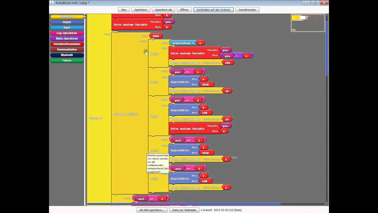 ardublock tutorial mills blink without delay arduino