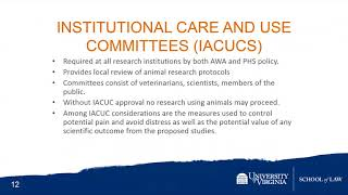 Laws and Regulations Governing the Care and Use of Laboratory Animals: An Overview