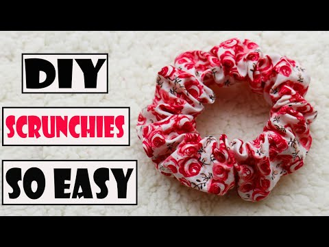 DIY SCRUNCHIES - How to make a scrunchies so easy - 동영상