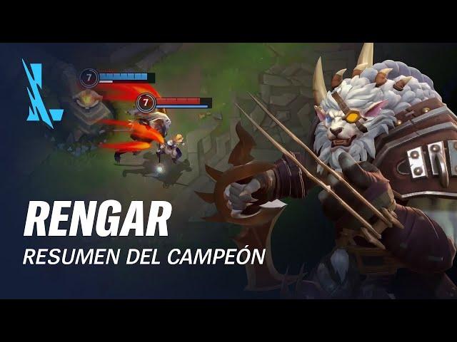 Resumen del campeón: Rengar | Experiencia de juego - League of Legends: Wild Rift