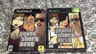 Grand Theft Auto Trilogy Xbox Unboxing (Comparison with PS2 Version)