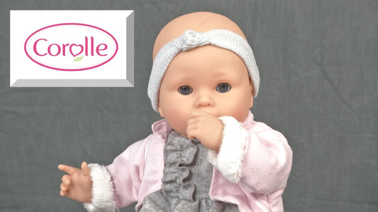 mon bebe classique valentine baby doll from corolle youtube. Black Bedroom Furniture Sets. Home Design Ideas