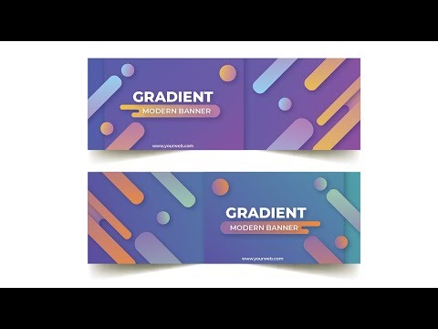 rounded gradient banner Design Illustrator Tutorial thumbnail