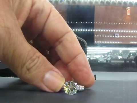 3.23CTS Diamond VS1,M EGL Cert. Engagement Ring 18k 3.93TCW  Retail 40k