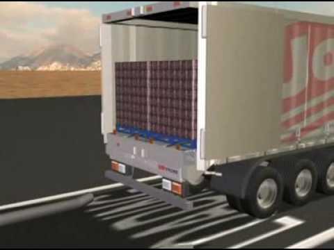 Carga de camiones: Sistema de rodillos y cadenas - YouTube