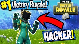 FORTNITE HACKER CAUGHT IN THE ACT!?