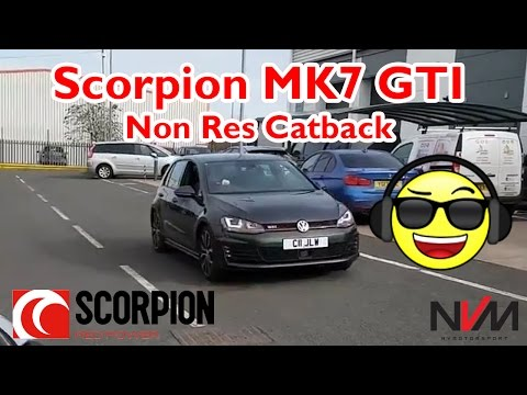 VW Golf Gti Mk7 Scorpion Non Res Catback Exhaust | NV