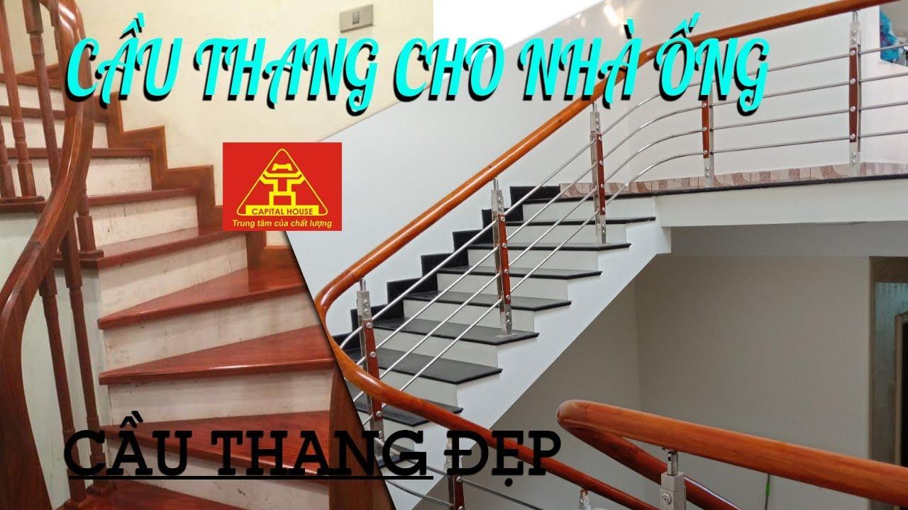 Cách bố trí cầu thang cho nhà ống hợp lý nhất đẹp nhất   Cầu thang VIP