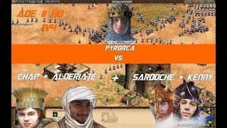 AoE II - 1 vs 4 - Pyrorca vs Sardoche, Alderiate, Kenny & Chap