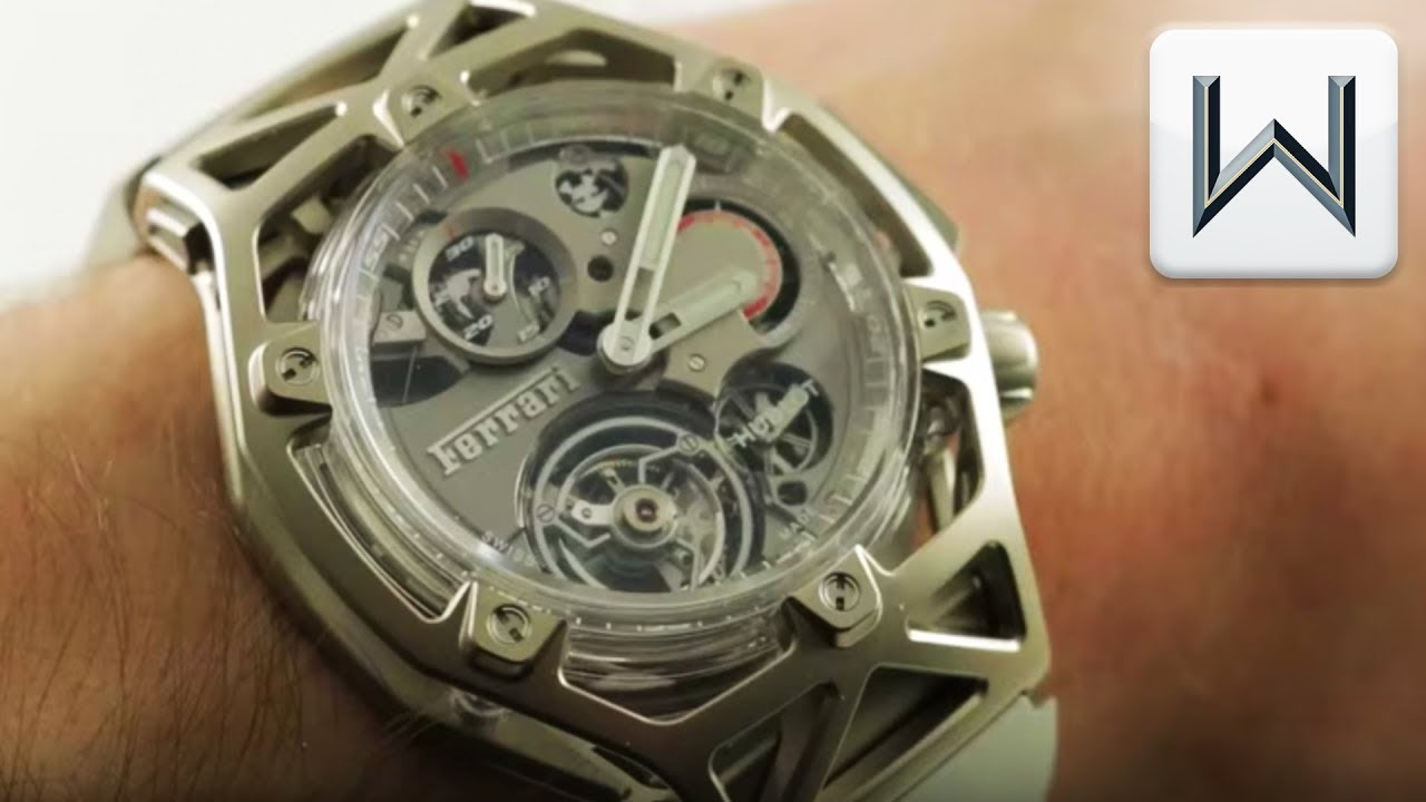 Hublot Techframe Ferrari Tourbillon Chronograph White Gold Sapphire  408.JW.0123.RX Watch Review
