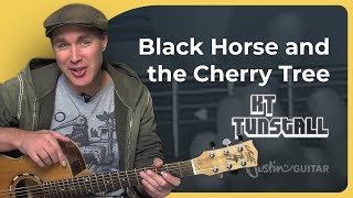 How To Play Black Horse And The Cherry Tree By KT Tunstall Acoustic Guitar Lesson SB 122