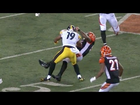 JuJu Smith-Schuster Vicious Block on Vontaze Burfict | Steelers vs. Bengals | NFL
