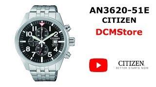 AN3620-51E Citizen Chronograph Quartz Black Dial