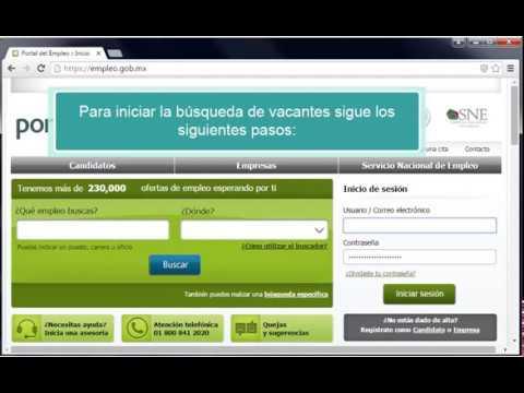 Portal del Empleo Registro y Búsqueda
