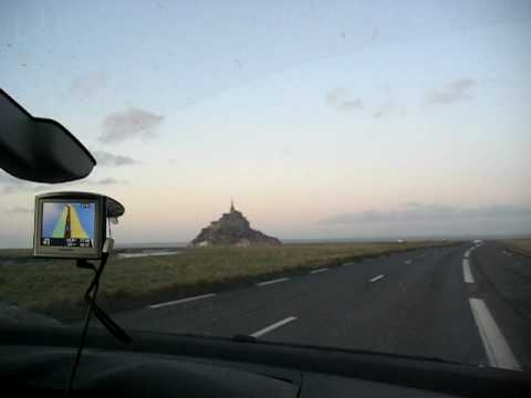 Driving to Mont St. Michel