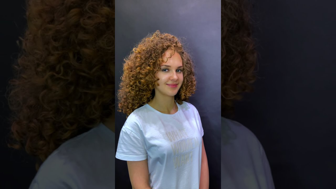 Спиральная химическая завивка волос в афро-стиле