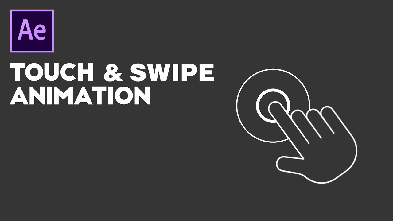 Easy & Smooth Touch & Swipe Gestures Animation in After Effects Tutorial